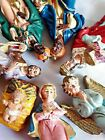 Vintage Christmas Nativity Set 7 Pieces Made in Italy Holy Family +