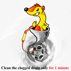 FlexiSnake Drain Weasel Sink Snake Includes Rotating Handle and 5 Refills+BONUS
