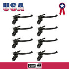 8x Black Left Clutch Lever With Lock For 49cc 60cc 66cc 80cc Motorize Bicycle