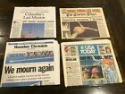 1986 CHALLENGER  2003 COLUMBIA SPACE SHUTTLE EXPLOSIONS NEWSPAPER LOT