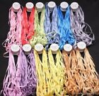 12 Spools of 100 Pure Silk Embroidery Ribbons 7mm x 10 Meters