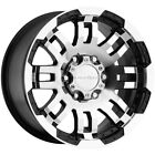 4 Vision 375 Warrior 18x85 6x45 +18mm Black Machined Wheels Rims 18 Inch