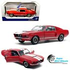 Solido 118 1967 Shelby Mustang GT500 Red with White Stripes Diecast Model