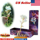 1Pcs Galaxy Rose Flowers Valentines Day Lovers Gift Crystal Rose Romantic USA