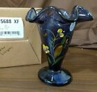 Fenton Art Glass Hyacinth Hand Painted Floral SUMMER WHISPERS Vase New In Box