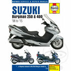 HAYNES REPAIR SERVICE MANUAL BOOK SUZUKI BURGMAN AN 250 / 400 SCOOTER 1998-2015