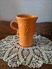 CAPPUCCINO MUG CUP tangerine orange FIESTA WARE 21 OZ. NEW