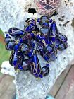 VINTAGE MURANO WEDDING CAKE ART GLASS BEAD NECKLACE  ESTATE FREE SHIP