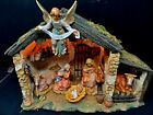 Roman Fontanini Lighted Stable 6pc Italian Nativity 5 Scale 54567 Christmas