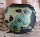 GALLE INSPIRED VASE ART NOUVEAU GLASS ACID ETCHED EMBOSSED CAMEO FLOWERS MINT