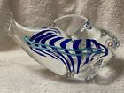 Schmidt Rhea Glass Small Fish Curved Tail Signed by Artist