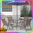 Outdoor Patio Furniture Table And 4 Folding Chairs Dining Set Garden Pool Yard