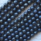 High Quality Natural Genuine Blue Sapphire Faceted Round Beads 8mm