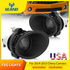 for 2014 2015 Chevy Camaro LS LT 36L Projector Fog Lights W bezel Cover+Switch