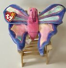 TY Beanie Baby Flitter The Butterfly With A Hologram On The Tush Tag and Errors
