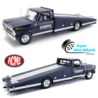 ACME 118 Shelby Cobra 1970 F 350 Ramp Truck Powered by Ford Dark Blue