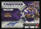 2010 Panini Threads Franchise Adrian Peterson AUTO Patch 1 10 Vikings