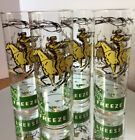 Vintage Davy Crockett [Holiday Freeze] 4 Glasses Character Advertising 1950's