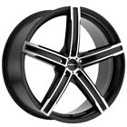 4 Vision 469 Boost 17x7 5x110 +38mm Black Machined Wheels Rims 17 Inch