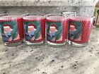 4 VTG RETRO  Georges Briard Glasses Santa Flamingo Old Stock NIB DOF 14 Ounce