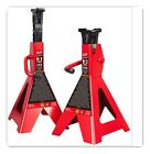 T43006 Torin Steel Jack Stands 3 Ton 6000 lb Capacity Red 1 Pair