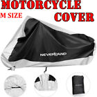 Medium Bike Motorcycle Cover Scooter Waterproof UV Dust Outdoor Protector Silver