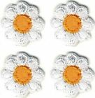 Lot of Four 1 2x1 2 Spring White Yellow Daisy Flower embroidery patch