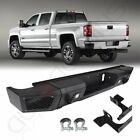 Front Rear Bumper For Chevy Silverado 2500 15-17 Led Light D-ring Winch Plate