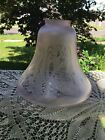 5 Vianne France Acid Etched Frosted Light lamp Glass Shade Art Deco Signed