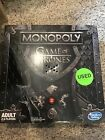 Hasbro Monopoly Game of Thrones Board Game (Missing One Piece)