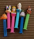 DISNEY PEZ DISPENSER LOT X6 NEMO FROZEN ELSA MINNIE MOUSE MATER MONSTERS BEAUTY