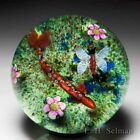 Caithness Glass 1984 Trout and Mayfly pond compound glass art paperweight