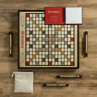 Scrabble Grand Folding Edition with Rotating Wooden Game Board Turntable New