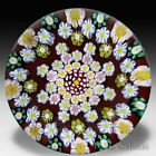 Drew Ebelhare 2015 patterned millefiori flower canes art glass paperweight