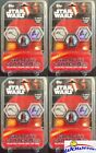 (4) Topps Star Wars Galactic Connexions Wave 2 Sealed Starter Packs-56 DISCS