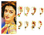 Indian Traditional Marathi Wedding Nath Gold Plated Nose Ring Bridal Combo of 8