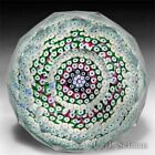 Whitefriars 1973 close concentric fancy diamond cut art glass paperweight