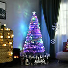 Pre lit Fiber Optic 5 Tree Artificial Christmas Tree Multicolor LED Star Lights