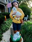 Vintage Shepherd Nativity Boy With Lamb Blow Mold 33 TPI Lighted Holiday