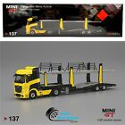 Mini GT 164 Mercedes Benz Actros Cars Transporter Full Die Cast Yellow 137