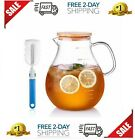 95 Ounce Large Glass Pitcher with Lid and Handle Heat Resistant 95oz