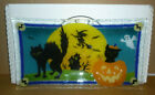 Peggy Karr Glass 14 BOO Tray Signed 2002
