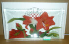 Peggy Karr Glass 10 WINTER GARDEN Tray Signed
