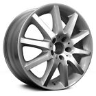 For Mercedes Benz CLK350 07 10 Alloy Factory Wheel Spoke Machined w Silver Vents