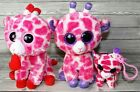 TY BEANIE BOOS 3pc LOT BACKPACK CLIP & 6