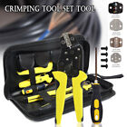 Hydraulic Crimping Tool Kit Cable Crimper Dies Wire Terminal Crimp Lug Set US