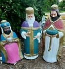 TPI Nativity Three 3 Wise Men Kings Blow Molds Plastic Lighted Christmas