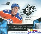 2015 16 UD SPX Hockey Factory Sealed HOBBY Box-3 AUTOGRAPH MEM PREMIUM HITS