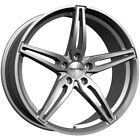 4 Sothis SC108 18x75 5x45 +35mm Gunmetal Wheels Rims 18 Inch