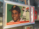 Roberto Clemente 1955 TOPPS RC graded Rookie #164 PSA 3 NICE COLOR Pirates bgs